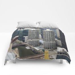 Marina Towers Chicago Illinois Color Photo Comforters