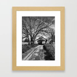 Covered Bridge Framed Art Print