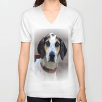 the hound V-neck T-shirts featuring Hound 2 by Doug McRae