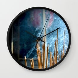Through Smoke Wall Clock