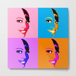 Keisha D POP! 4 Color Metal Print