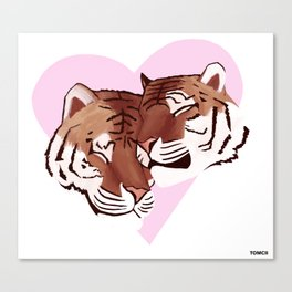 Tigers In Love Canvas Print
