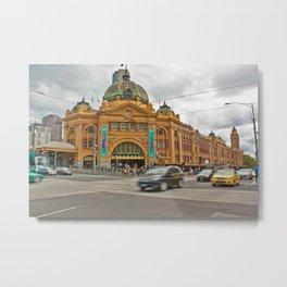 Flinders Street Station Melbourne Australia Metal Print