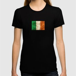 Vintage Aged and Scratched Irish Flag T-shirt
