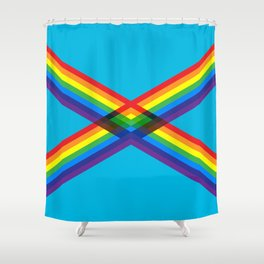 crossing rainbows Shower Curtain