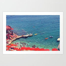 Summers in Capri are what dreams are made of. Art Print