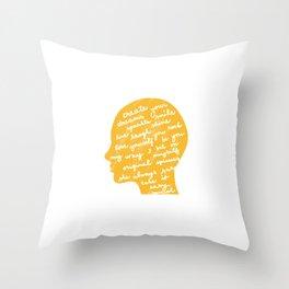 Head profile with positive attitude Throw Pillow