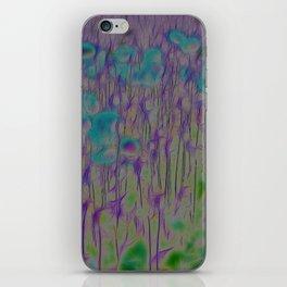 Corn Poppy Blue iPhone Skin
