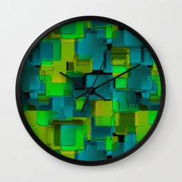 Abstraction. The graphic pattern. Wall Clock
