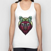 coyote Tank Tops featuring Coyote by Graham Diehl