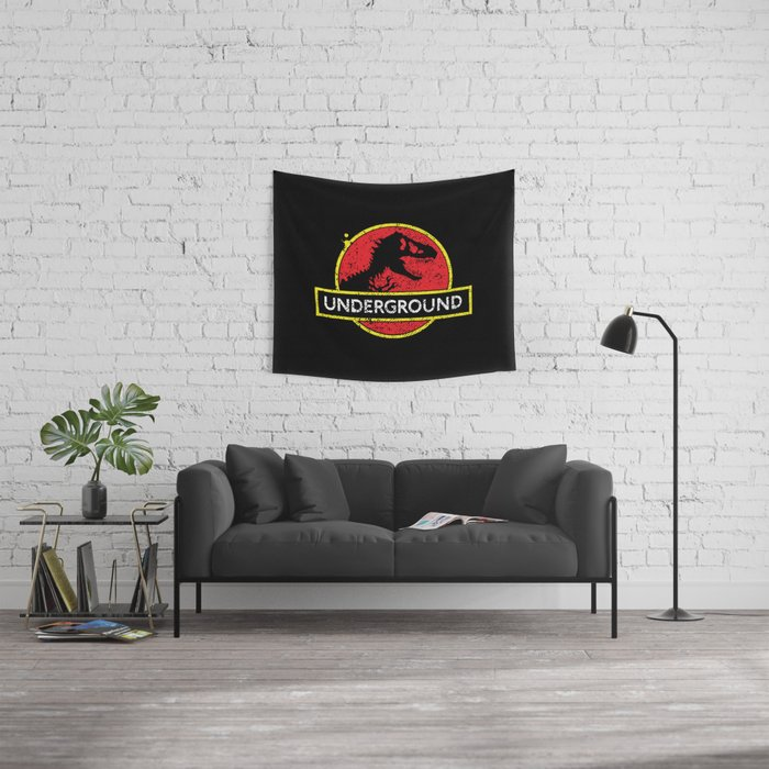 Monsters of the Underground Wall Tapestry