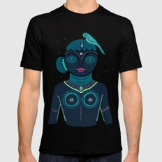 Indian woman MEDIUM Black Mens Fitted Tee