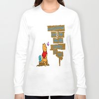 winnie the pooh Long Sleeve T-shirts featuring Winnie The Pooh by LaLunaBee