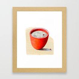 Red Bowl Framed Art Print