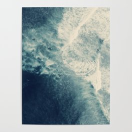 Ice Blue Surf Poster
