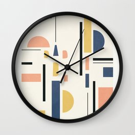 Clean Flow Geometry 2 Wall Clock