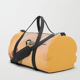 Songbird (Great Tit) on Autumn Day #decor #society6 #buyart Duffle Bag