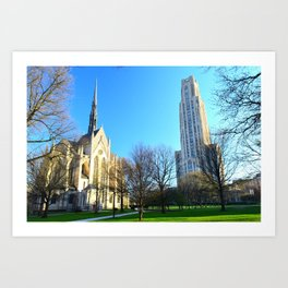 Heinz Chapel and Cathedral of Learning in Pittsburgh 12 Art Print