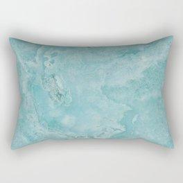 Turquoise Sea Marble Rectangular Pillow