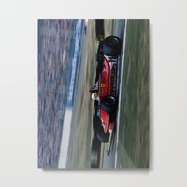 Sketch of F1 Champion Jody Scheckter - year 1979 car 312 T4 - Vertical Metal Print