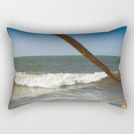 the old pier Rectangular Pillow