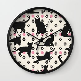Mischievous Cats Wall Clock