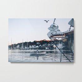 Camden, ME Harbor in Fall Metal Print