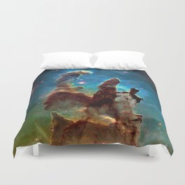 Eagle Nebula's Pillars Duvet Cover