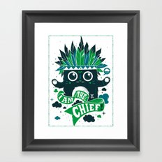 I am the chief! Framed Art Print