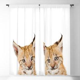 Baby Lynx, Bobcat Cub, Baby Animals Art Print By Synplus Blackout Curtain