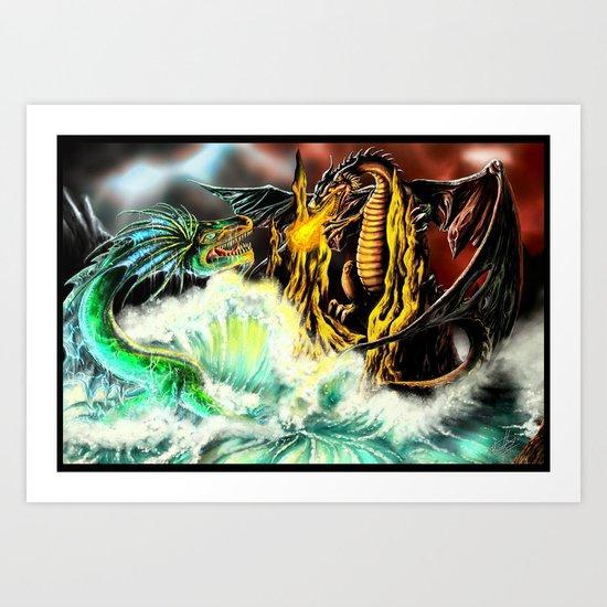 Land vs. Sea Art Print