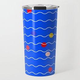 Beach Balls at the Beach Travel Mug