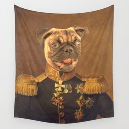 General Pugs Portrait Painting | Pug Lovers only! Wall Tapestry