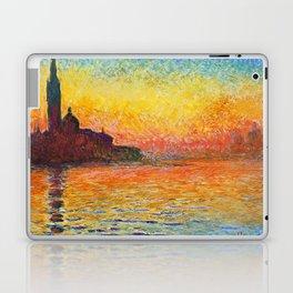 Claude Monet Sunset In Venice Laptop & iPad Skin