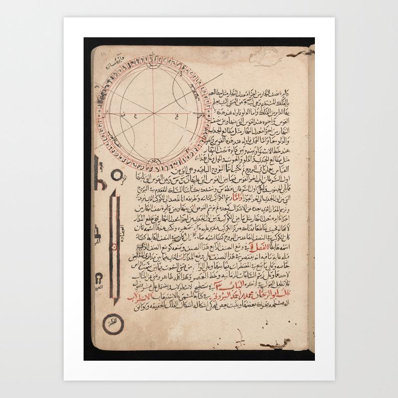 Drawing of an Astrolabe by Abu Ali al-Hasan al-Marrakushi (1281) Art Print by ninboy   Society6