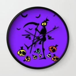 Colorful skulls Wall Clock