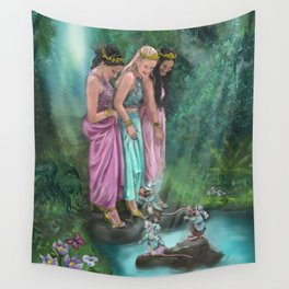 The Three Princesses Wall Tapestry