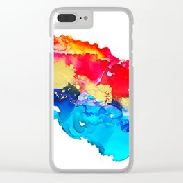 Inky Splash Clear iPhone Case