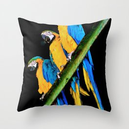 3 of a Kind Throw Pillow
