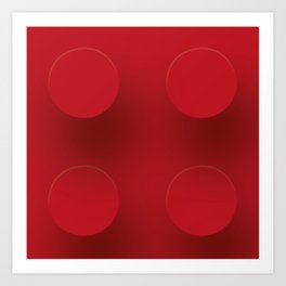 Red Building Block Art Print
