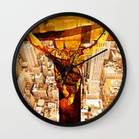 jesus Wall Clocks featuring Jesus by Joe Ganech