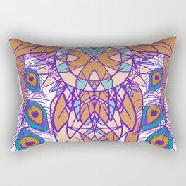 Tribal Peacock Owl Rectangular Pillow