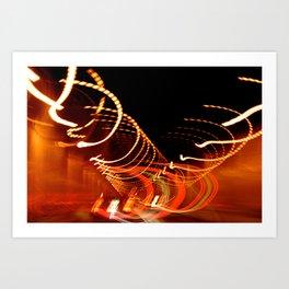 Flashing, Lights Art Print