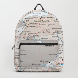 Map of the state of New York Backpack