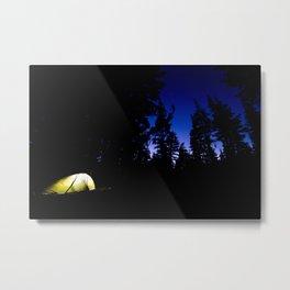 Camp at Last Light Metal Print