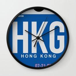 HKG Hog Kong Luggage Tag 1 Wall Clock