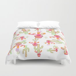 Cactus Family Day Duvet Cover