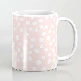 Pink and white doodle dots Coffee Mug