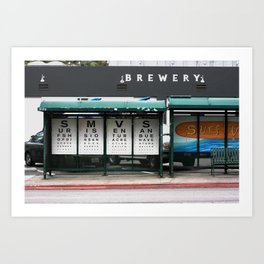 Vista Bus Stop Art Print