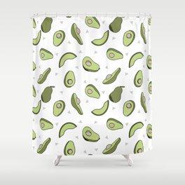 Avocado pattern by andrea lauren minimal cute fruit vegetable food print design Shower Curtain